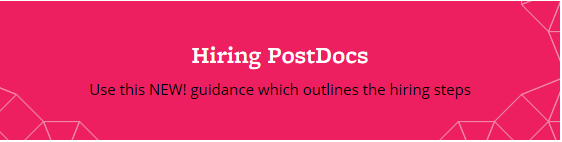 Hiring PostDoc promotional bloc